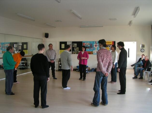Peter Brook Group rehearsal 086